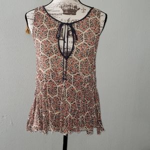 """Free People Sleeveless """"Shreded"""" Top"""